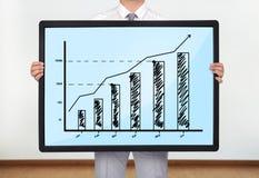 Plasma with chart Royalty Free Stock Photos