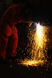 Plasma cutting Royalty Free Stock Photo