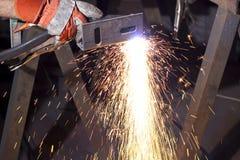 Plasma cutting Stock Photography