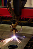 Plasma cutting Royalty Free Stock Images