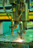 Plasma cutting Royalty Free Stock Image