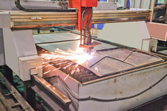 Plasma cutting Stock Photo