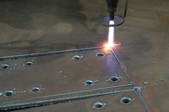 Plasma Cutting Stock Image