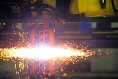 Plasma cutting CNC machine Stock Photo