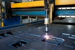 Plasma cutting machine, , metal cut process, metal cutting stock images
