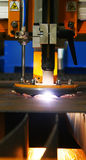 Plasma cutting torch. Automated plasma metal cutting torch Stock Photo