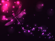 Plasma dragonfly and hearts Stock Image
