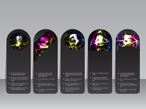 Plasma effect  label set Royalty Free Stock Photo