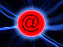 Plasma-eMail stockbild
