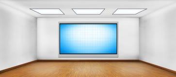 Plasma en blanco TV Imágenes de archivo libres de regalías
