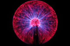 Plasma Energy Ball. A plasma ball in all its glory stock illustration