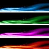 Plasma Energy Banner Set. An image of a plasma energy banner set Royalty Free Stock Image