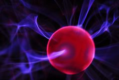 Plasma Explosion. Close-up of a plasma light dall Stock Image