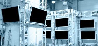 plasma för många paneler royaltyfri bild
