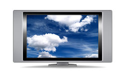 Plasma Fernsehapparat lizenzfreie stockbilder
