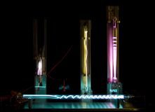 Plasma in gasses. Plasma's created by large currents in gastubes royalty free stock photography