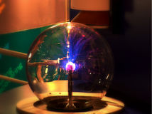 Plasma globe in CERN,Geneva Stock Photo