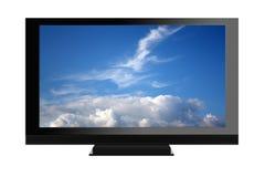 Plasma isolato TV Fotografie Stock Libere da Diritti