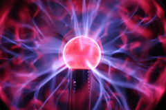 Plasma-Kugel Lizenzfreie Stockfotos