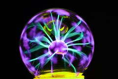 plasma lamp experiment Royalty Free Stock Images