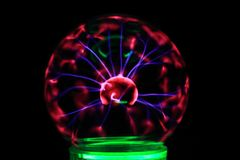 Plasma lamp experiment. As very nice color background Stock Images