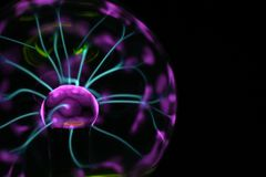 Plasma lamp experiment. As very nice color background Royalty Free Stock Images