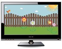 Plasma LCD-Fernsehapparat Stockfotografie