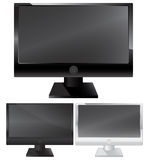 Plasma lcd monitor. Tv isolated on white background Royalty Free Stock Photos