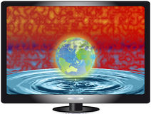 Plasma lcd tv. Lcd or plasma TV on the white background Stock Images