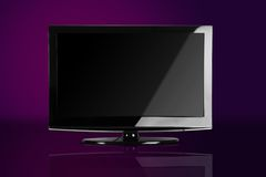 Plasma / LCD TV. Front Shot Royalty Free Stock Images
