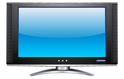 Plasma LCD TV Royalty Free Stock Photography