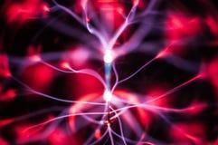 Plasma lichtstralen in de duisternis Royalty-vrije Stock Foto's