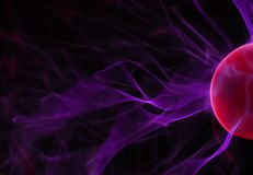 Plasma Lights. Close-up of plasma light ball Royalty Free Stock Images