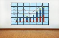 Plasma met grafiek royalty-vrije stock foto