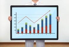 Plasma met grafiek royalty-vrije stock afbeeldingen