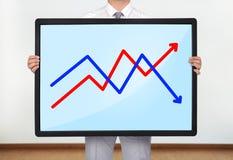 Plasma met grafiek stock foto
