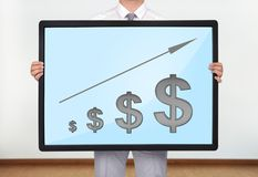 Plasma met grafiek royalty-vrije stock foto's