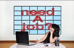 Plasma mit Bedarf ein Job lizenzfreie stockbilder