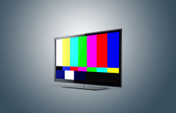 Plasma moderne de TV sans le signal Photos libres de droits