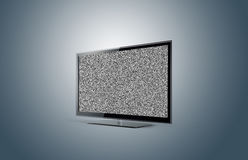 Plasma moderne de TV sans le signal Photo stock