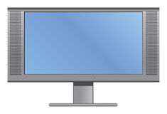 Plasma oder LCD-Fernsehen Lizenzfreies Stockbild