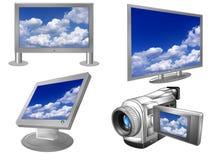 Plasma ou écrans d'affichage à cristaux liquides Images stock