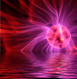 Plasma over Water. A plasma ball over water Royalty Free Stock Photo