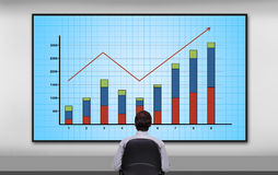 Plasma panel with chart Royalty Free Stock Photo