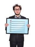 Plasma panel with checklist Royalty Free Stock Photos