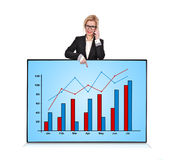 Plasma panel with graph Royalty Free Stock Image