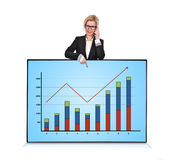 Plasma panel with graph Royalty Free Stock Photos
