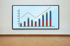 Plasma panel with graph Royalty Free Stock Photo
