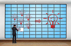 Plasma panel with idea Royalty Free Stock Image