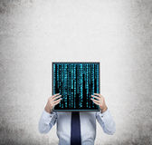 Plasma panel with matrix Stock Photos